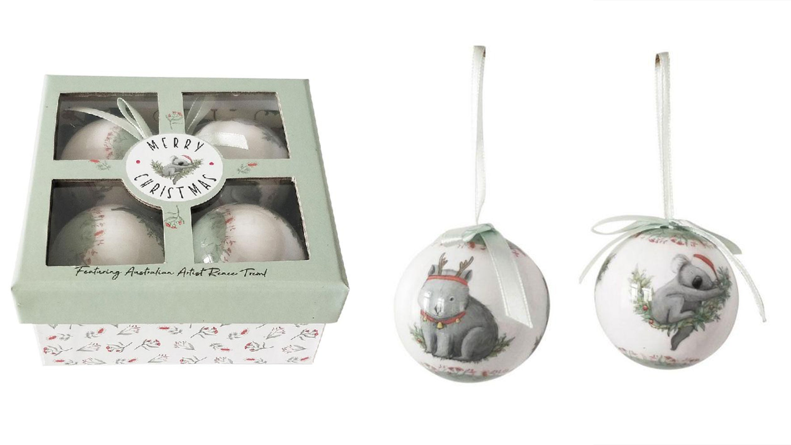 Christmas bauble decorations animals gift