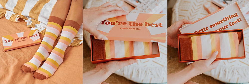 youre the best boxed gift socks