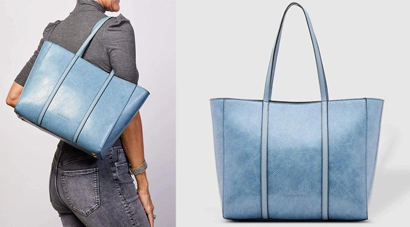 The Kentucky Lizard Denim Tote Bag by Louenhide