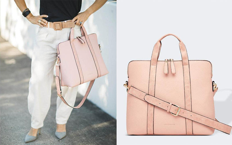 baby pink rhodes laptop bag by louenhide