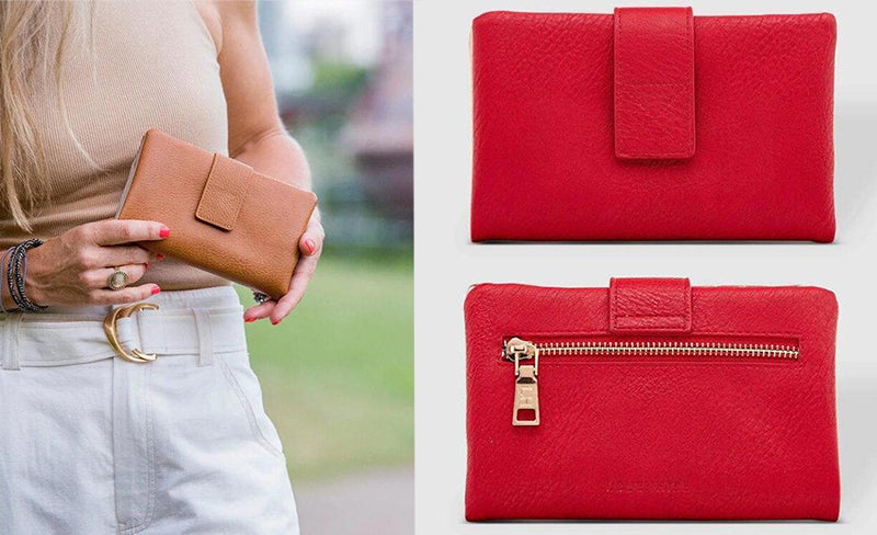 bailey raspberry wallet nutmeg louenhide