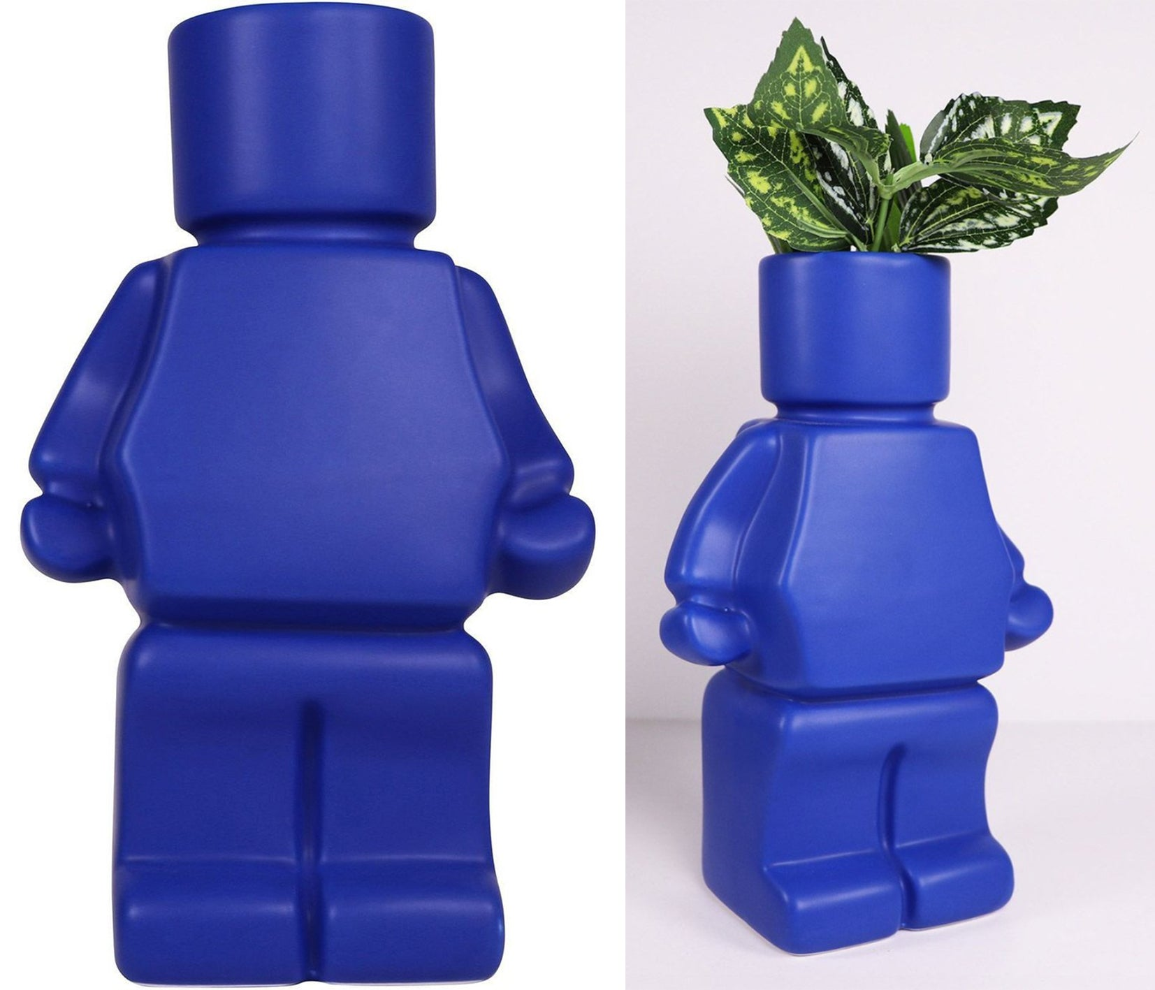 blue man planter by is gift