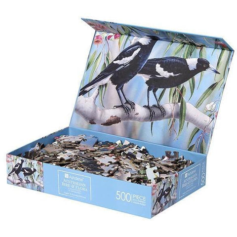 Australian fauna magpies jigsaw puzzle