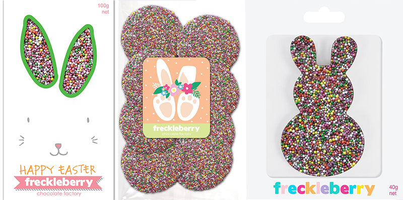 freckleberry chocolate bunnies freckles easter