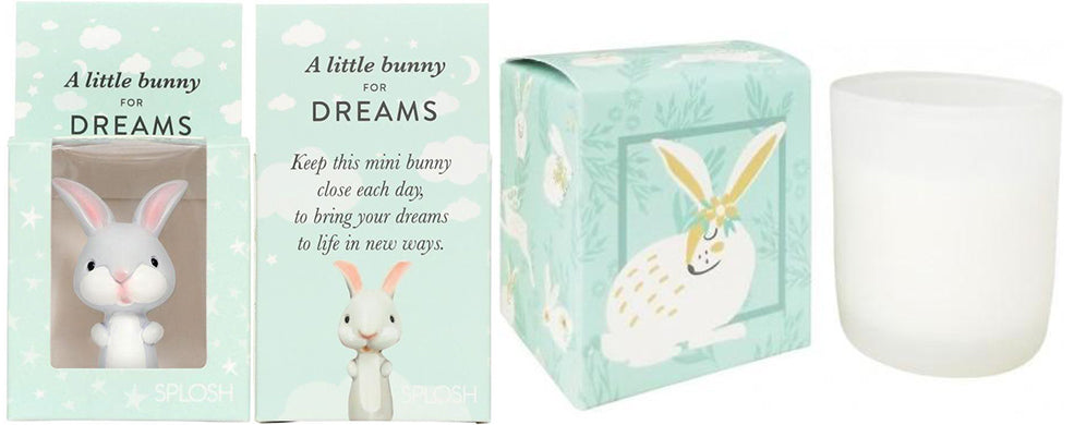 bunnies green boxed candle soy urban products