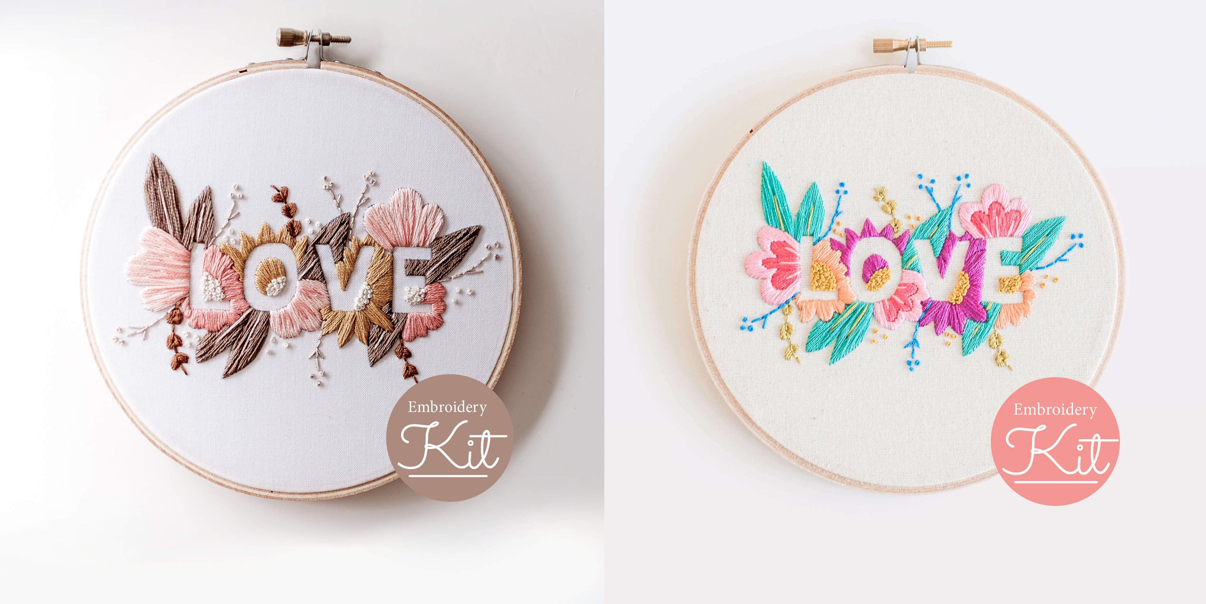 love embroidery kit Brynn&co