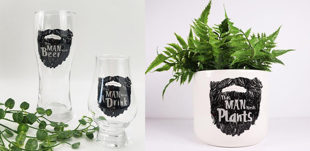 this man needs plants this man needs beer glass planter
