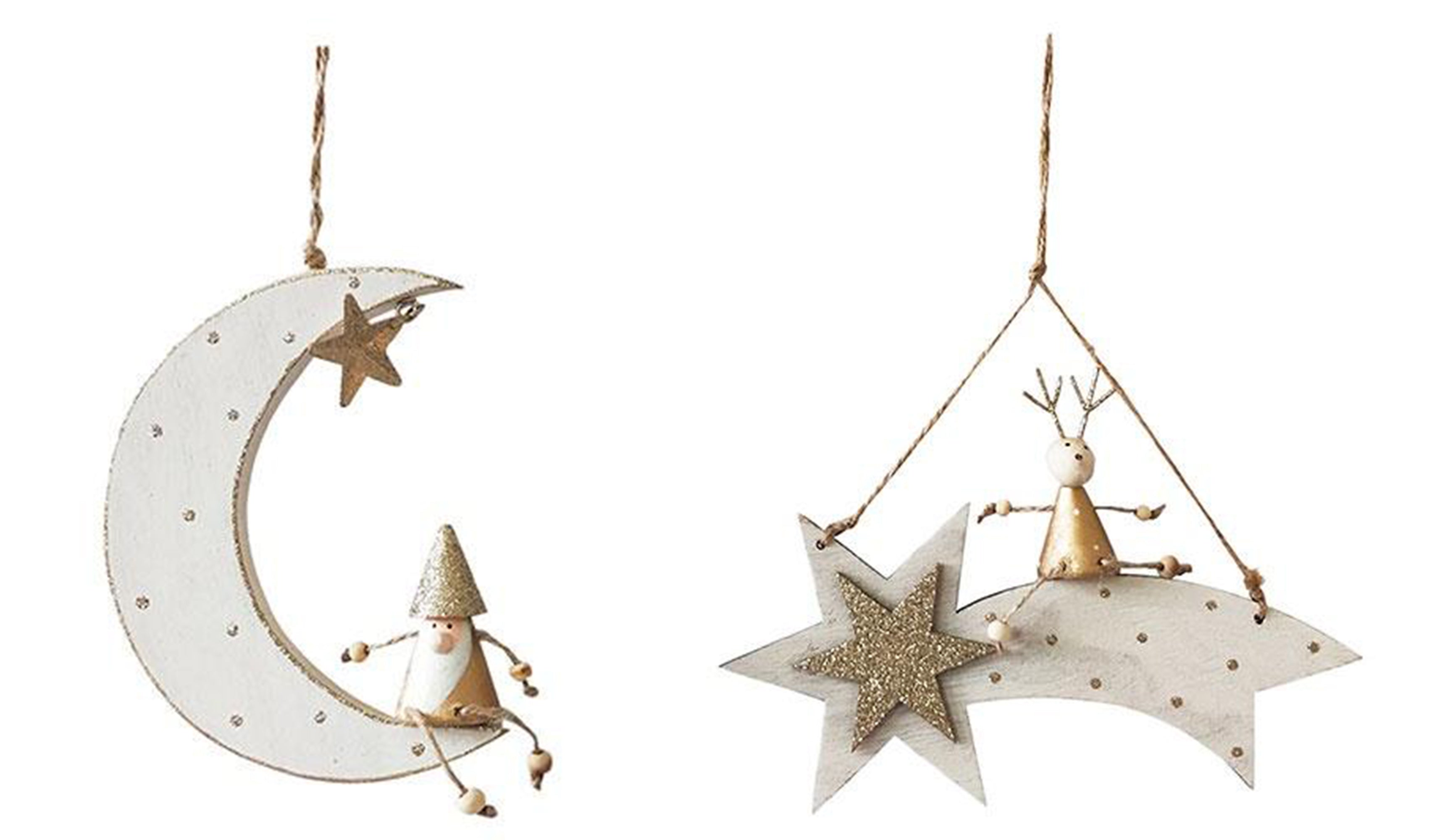 star moon wooden hanging decoration
