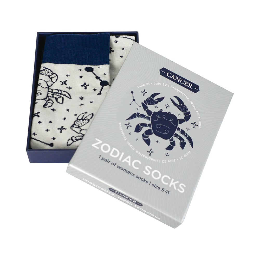 blue and grey cancer zodiac boxed socks for women annabel trends