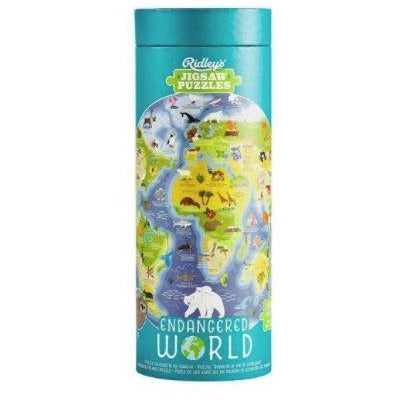 world map animal puzzle for children