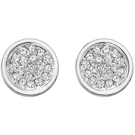 Tresor Silver Crystal Earrings