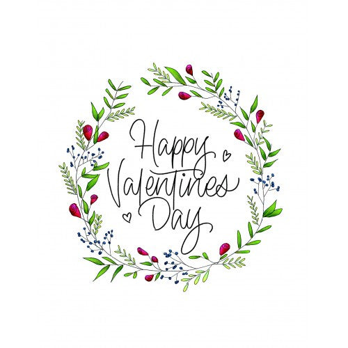 valentines day card white floral