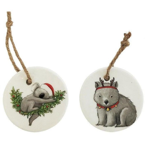 grey ceramic Australian animals decoration