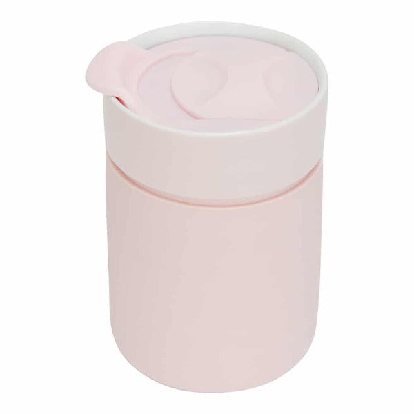 Pink Ceramic Travel Cup
