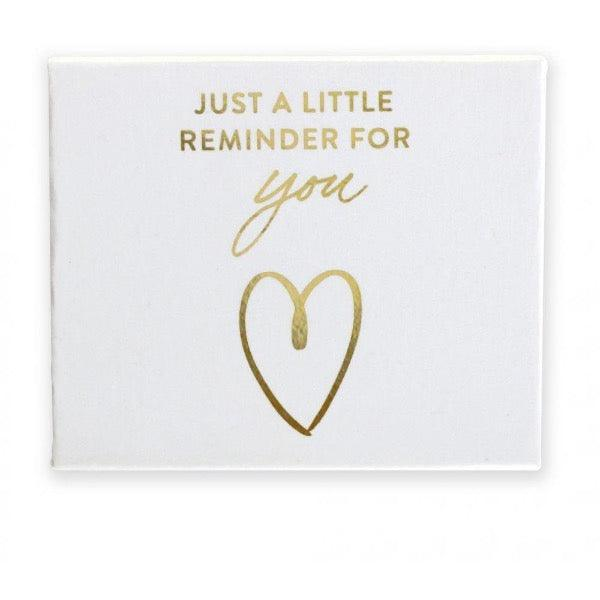 gold foil pebble in custom box white i love you