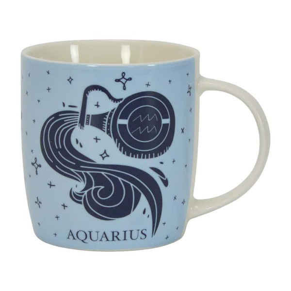 blue Aquarius zodiac mug annabel trends for women