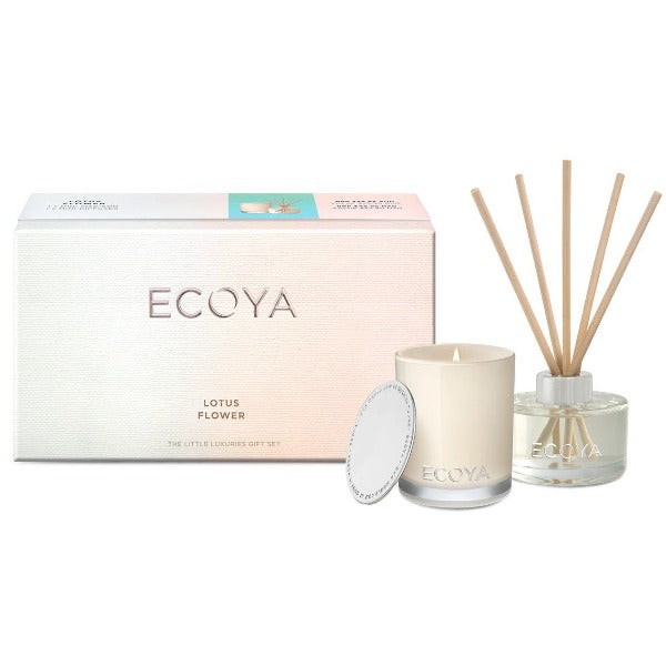 ecoya little luxuries gift set lotus flower