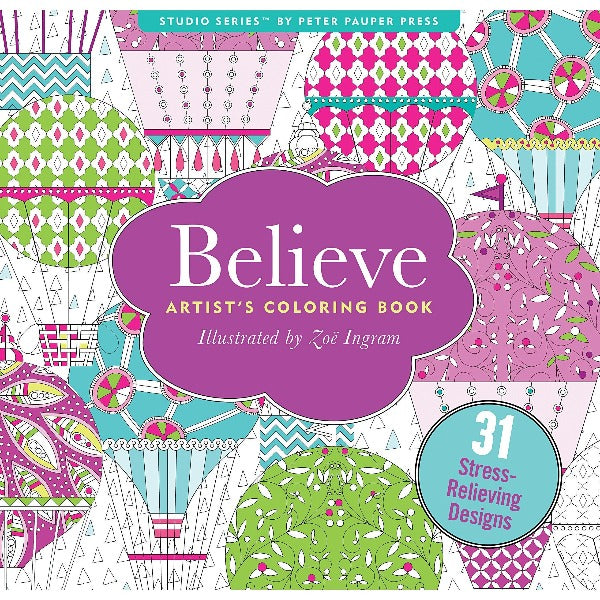 Believe Colouring Book