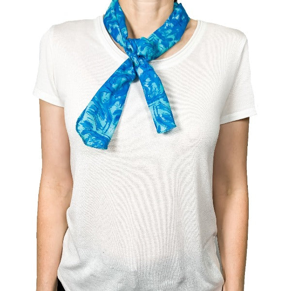 Blue Body Cooler Scarf