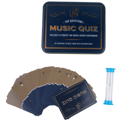 music trivia cards in tin