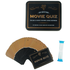 movie trivia cards in tin