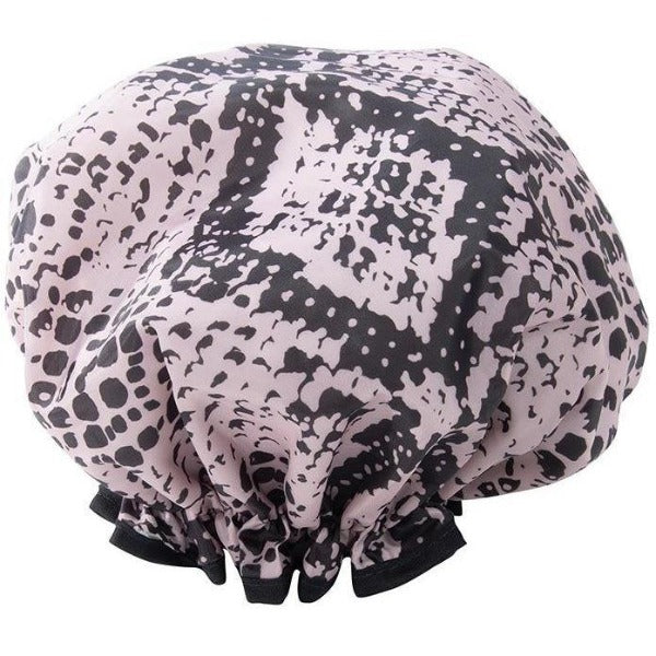 Snake Print Shower Cap