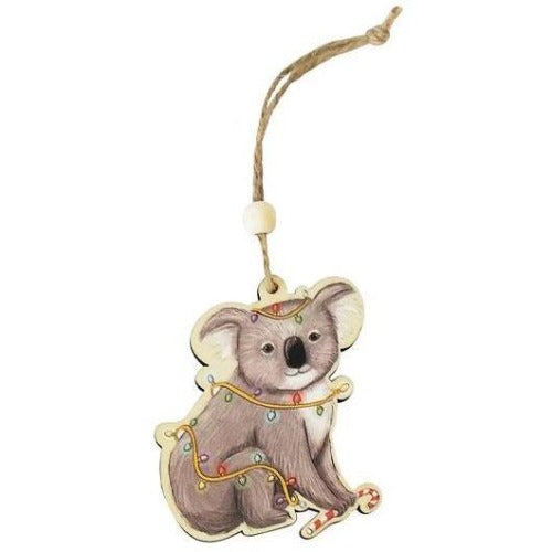 Koala hanging christmas decoration