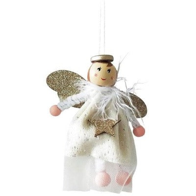 white little sparkle hanging angel decoration