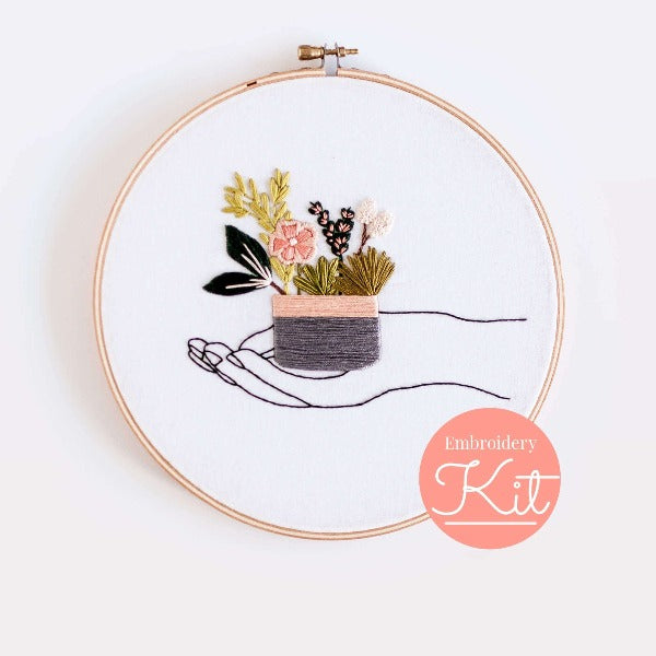 in your hands DIY embroidery kit