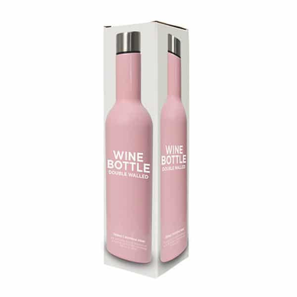 Pink Stainless Double Walled Wine Bottle