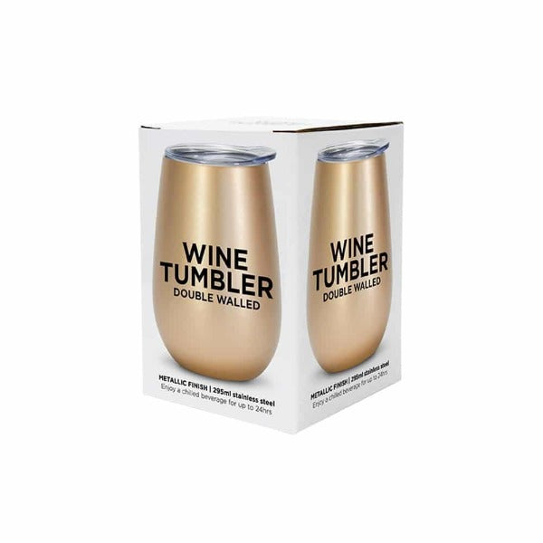 Gold Stainless Steel Double Walled Wine Tumbler