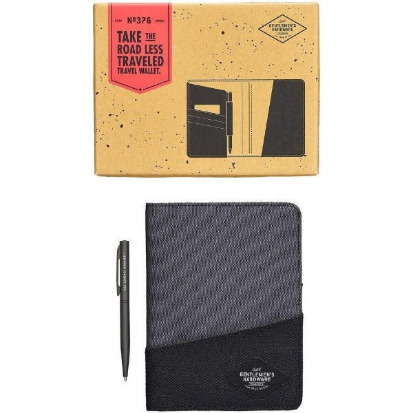 grey travel wallet for men