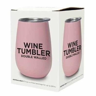 Pink Stainless Double Walled Wine Tumbler