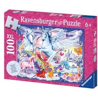 100 pieces Unicorn Glitter Jigsaw Puzzle