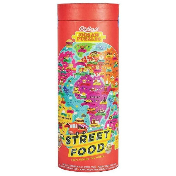 street food world map puzzle