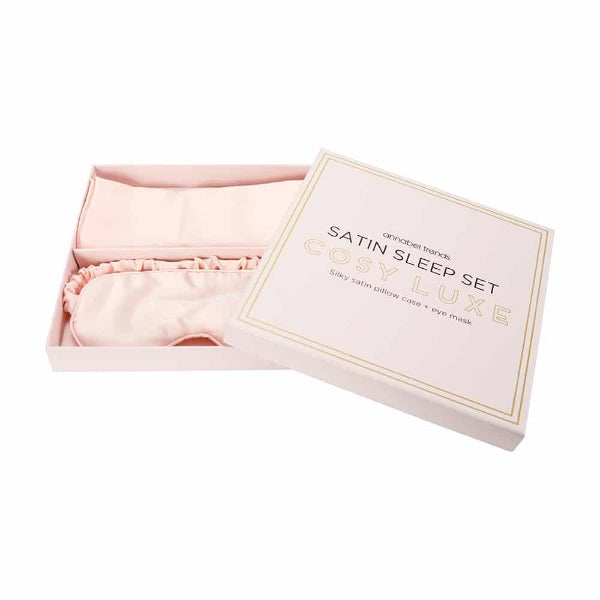 satin sleep set for women pink