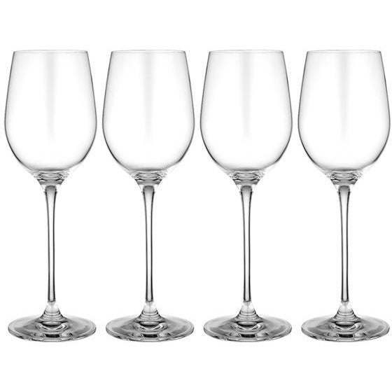 set of four wine glasses for white wine