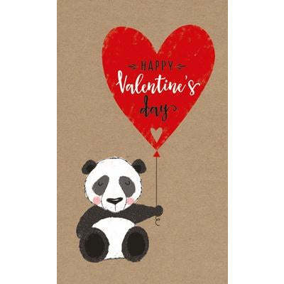 valentines day card with panda and qoute