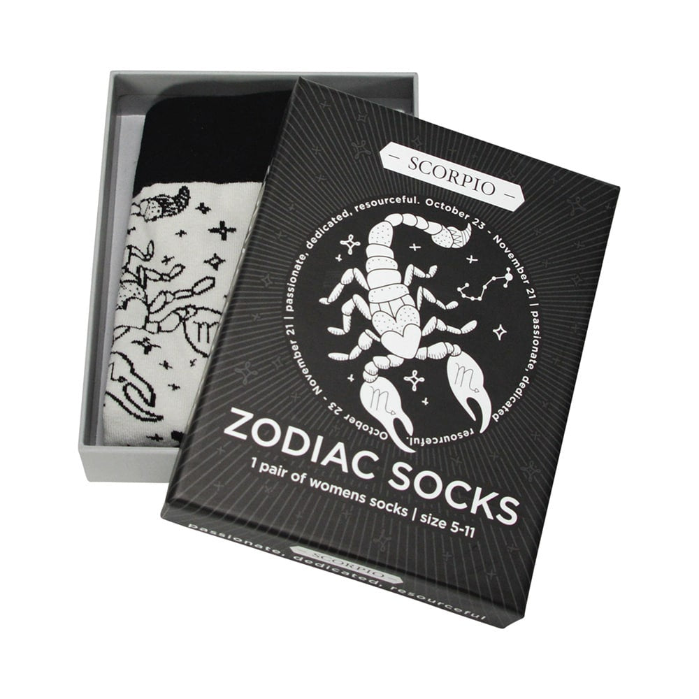 grey scorpio zodiac boxed socks for women annabel trends
