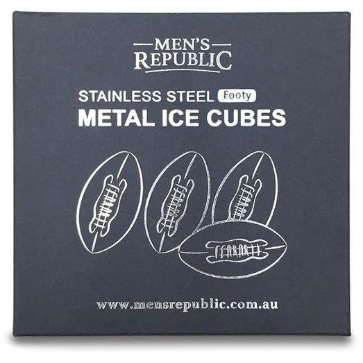 Stainless Steel Footy Metal Ice Cubes