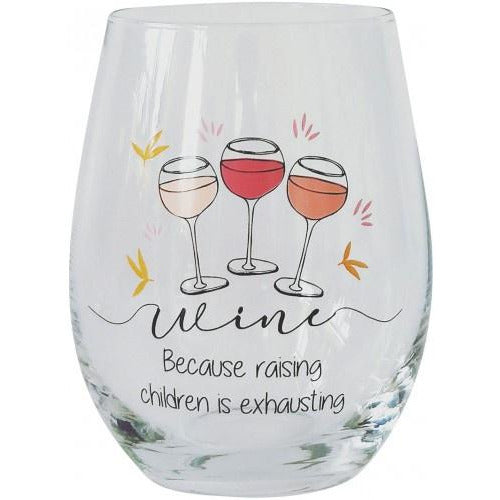 Children Exhausting Wine Glass