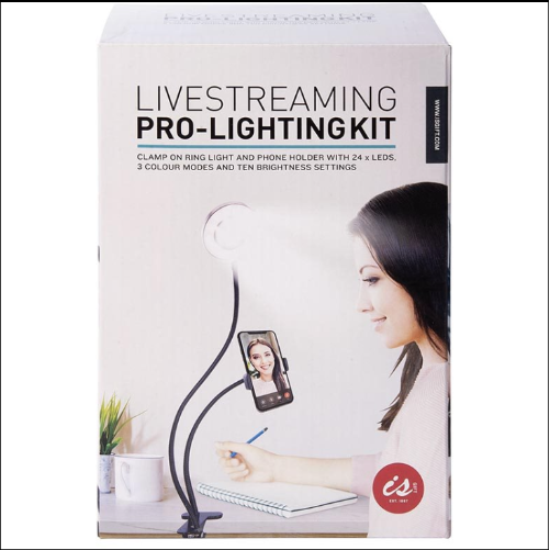 light kit for live streaming with phone for men and women content creation