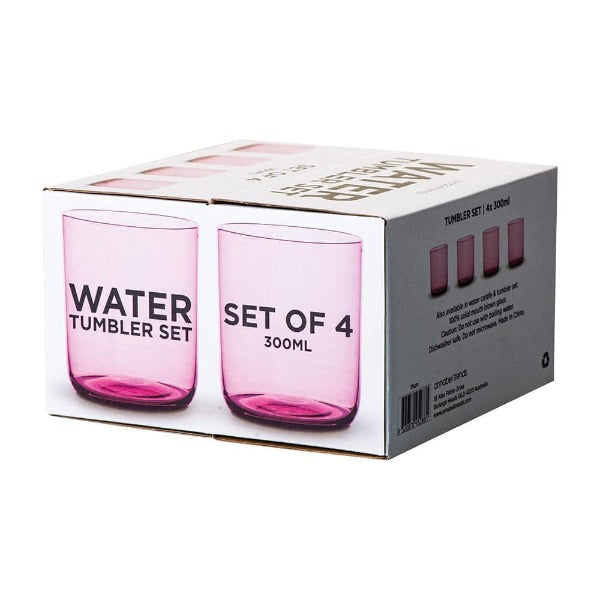 water tumbler set in plum