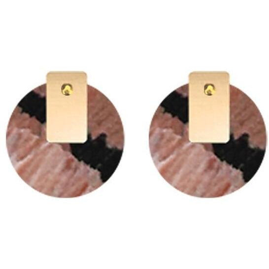 Miimi & Jinda Layered Medium Circle Stud Earrings