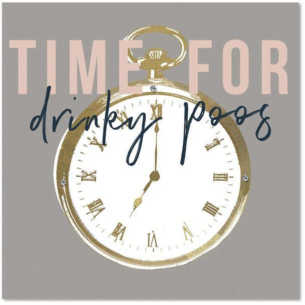 time for drinks greeting card