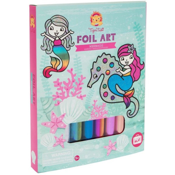 foil art mermaids