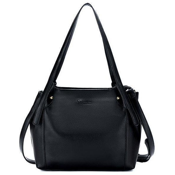 Black Vegan Leather 3 Piece Maya Handbag