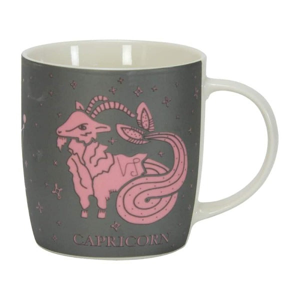 grey and pink capricorn zodiac mug annabel trends for women