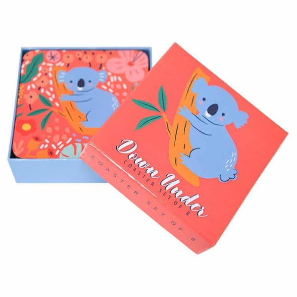 pink and blue Australian coasters for women