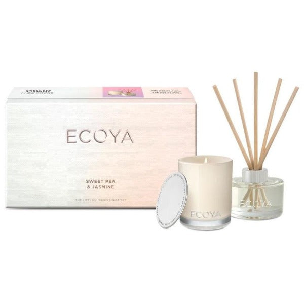 ecoya little luxuries gift set sweet pea